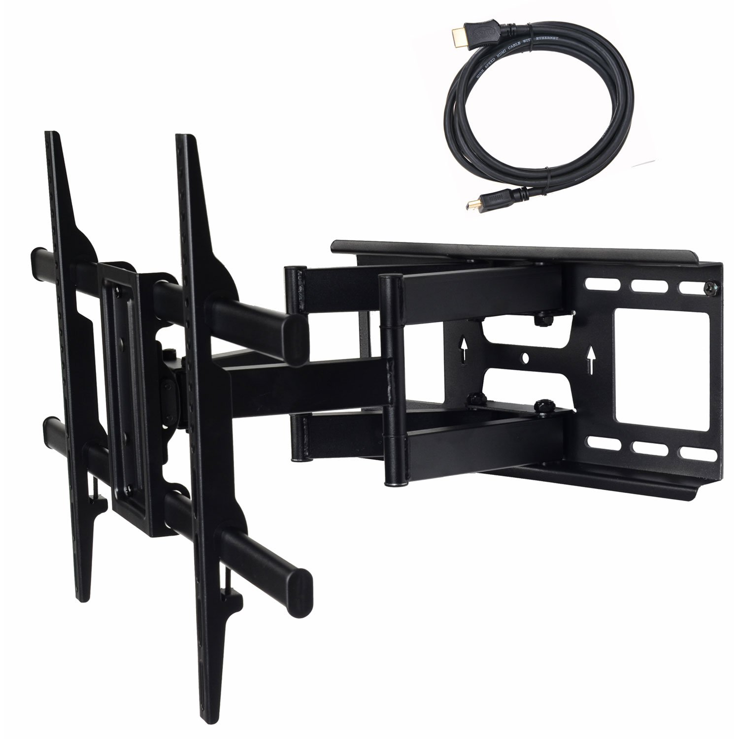 "VideoSecu MW380B3 Full Motion Articulating TV Wall Mount Bracket for Most 37""-75"" LED LCD Plasma HDTV up to 125 lbs with VESA 684x400 600x400 400x400 200x200mm, Dual Arm pulls Out up to 16"" AW8"