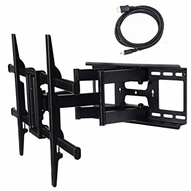 VideoSecu MW380B3 Full Motion Articulating TV Wall Mount Bracket for Most 37 -75  LED LCD Plasma HDTV up to 125 lbs with VESA 684x400 600x400 400x400 200x200mm, Dual Arm pulls Out up to 16  AW8