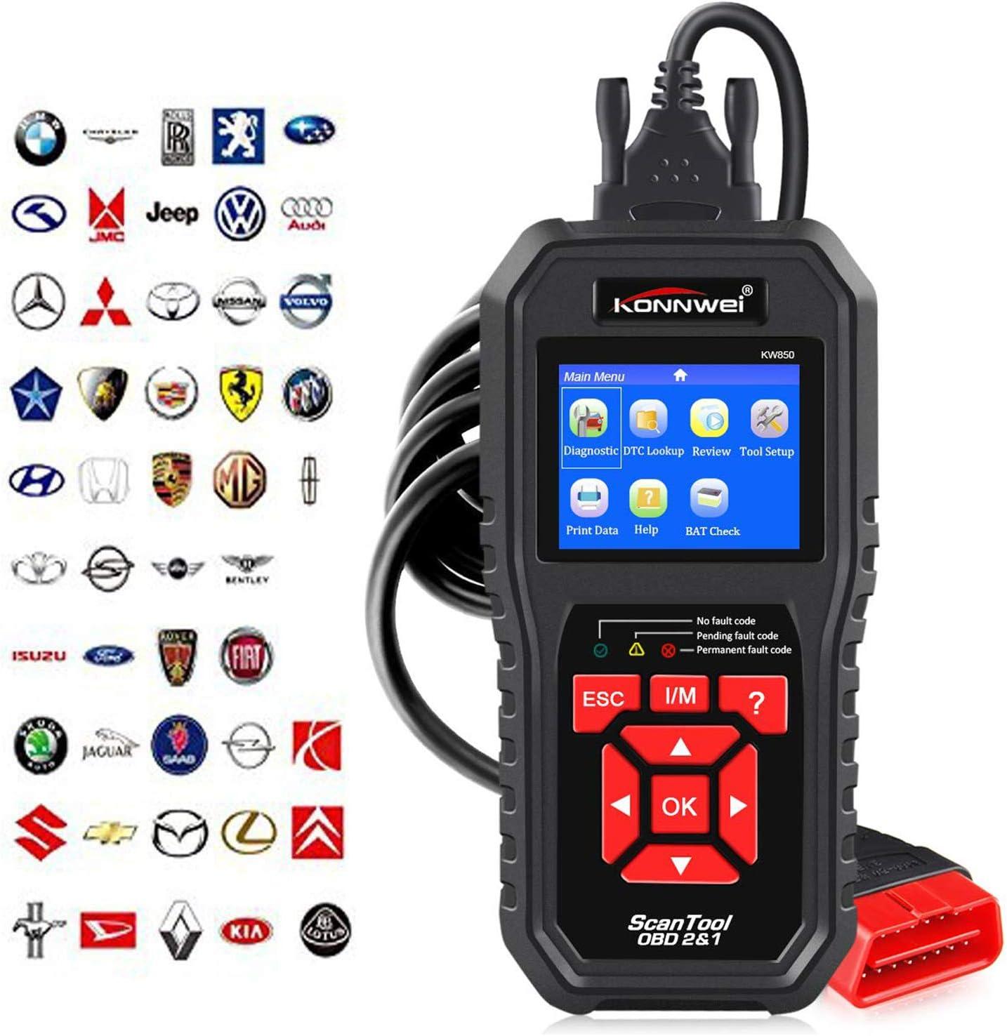KONNWEI KW850 OBD2 ODBII Automotive Scanner Engine Code Reader Diagnostic Tool