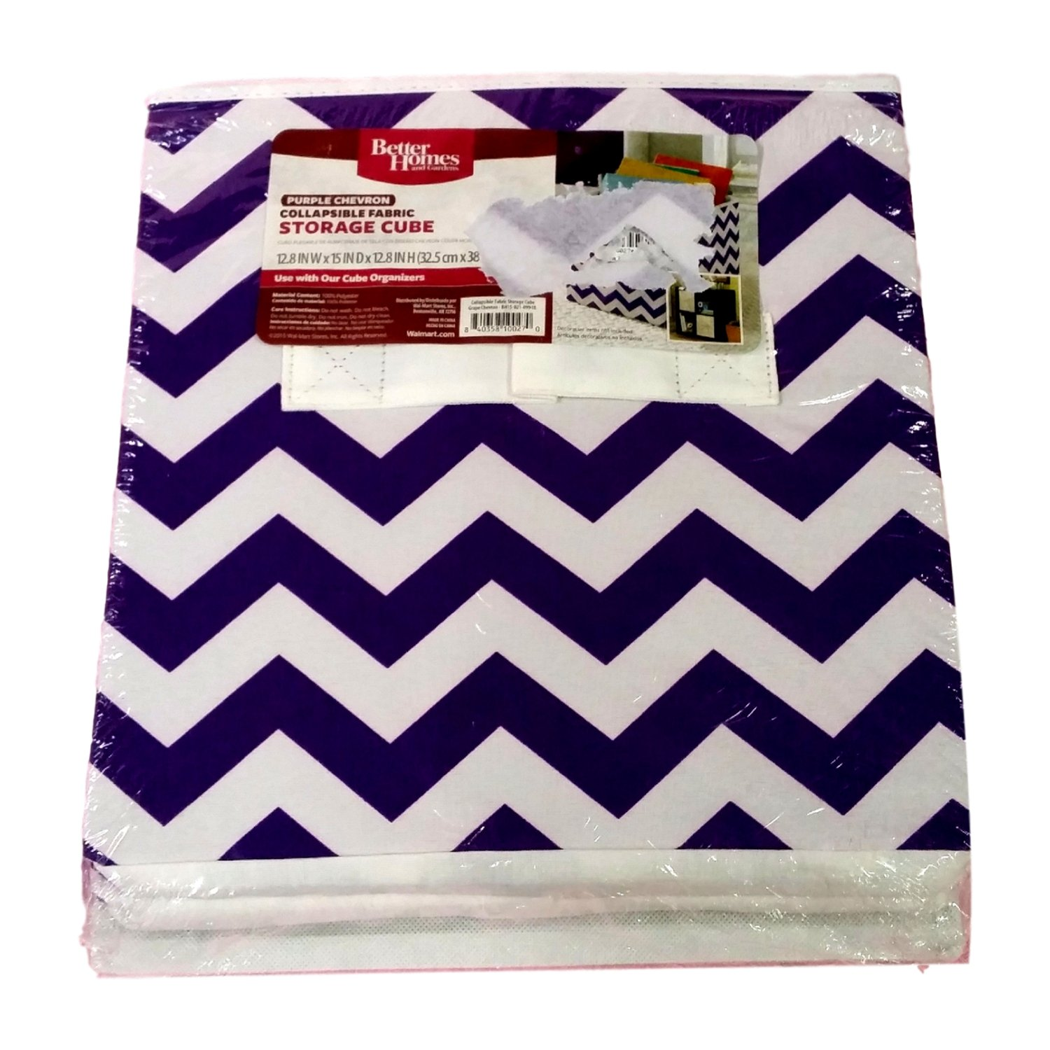 Captivating Amazon.com: Better Homes And Gardens Collapsible Fabric Storage Cube, Set  Of 2 (Purple Chevron): Home U0026 Kitchen