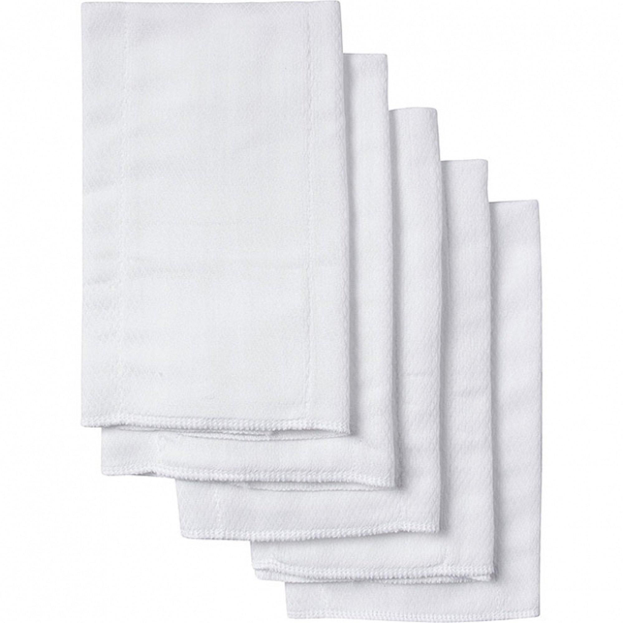 Gerber 5 Count Organic Birdseye Prefold Cloth Diaper, White by GERBER