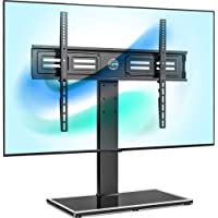 FITUEYES Universal TV Stand for 50-80 inch TV, Swivel 80 Degrees 4 Heights Adjustable with Cable Management Holds up to…
