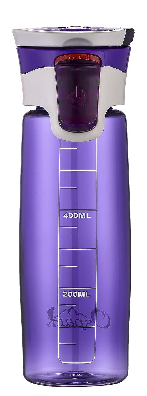 ospardスポーツBPAフリープラスチック水ボトルa7 21oz B07F9QK85L  パープル 21OZ