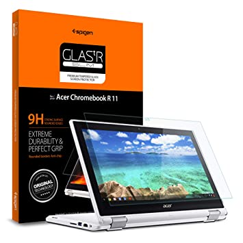 Spigen Tempered Glass Screen Protector Designed for Acer Chromebook R 11  Convertible (11 6 inch) [1PACK]