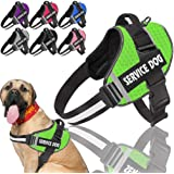 Btromeshy Service Dog Vest Harness,No-Pull Dog Harness with Handle,Adjustable 3M Reflective Oxford Material Pet Dog Vest for
