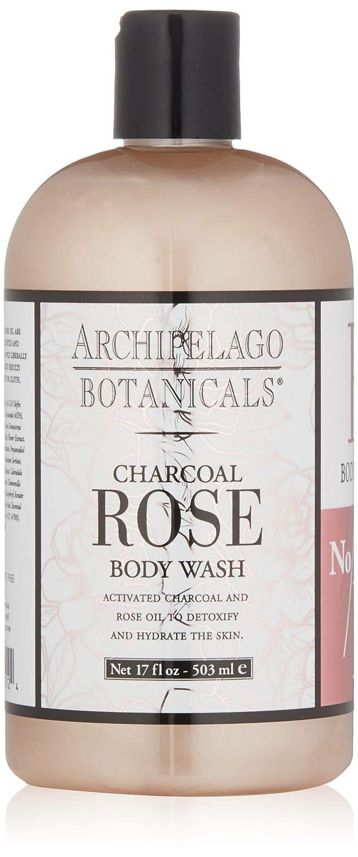 Archipelago Botanicals Charcoal Rose Body Wash, 17 Fl Oz