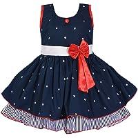 Wish Karo Baby Girls Frock Dress - Cotton - (ctn054nb)
