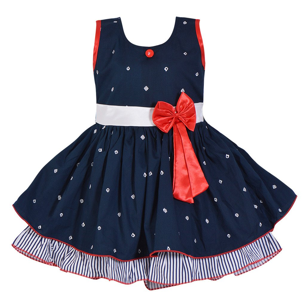 79519e920c96 Wish Karo Baby Girls Frock Dress - Cotton - (ctn054nb): Amazon.in: Clothing  & Accessories