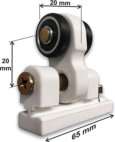 Teletoldo Polea rodamiento para guía de pérgola (1, Blanco)
