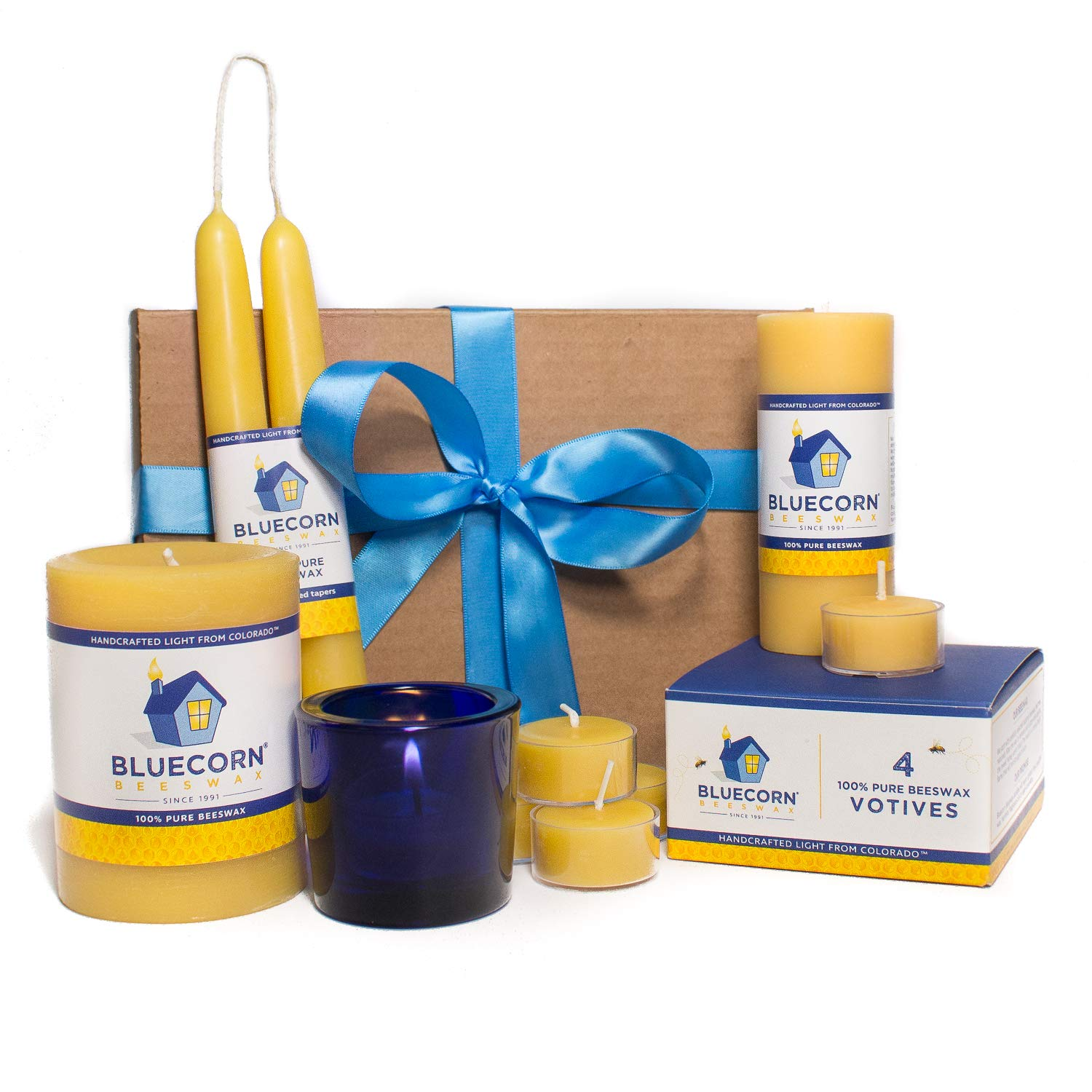Bluecorn Beeswax Raw Beeswax Candle Gift Set (Small)