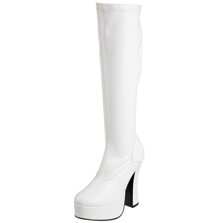 Pleaser ELECTRA-2000Z Damen Kurzschaft Stiefel Weiß(Weiss (Wht Str Faux Leather))