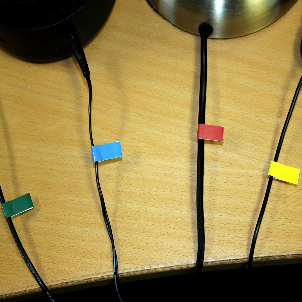 Stickers FISHTEC /® Lot de 2 Interrupteur pour Chaque Sortie Bloc Multiprise Couleur