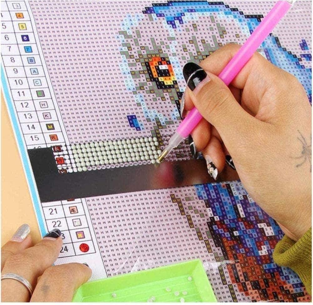 WCYYT DIY 5D Diamond Kits de Pintura Puente de Madera Puesta de Sol Naturaleza Paisaje DIY Pintura Rhinestone Bordado Punto de Cruz decoraci/ón de la Pared del hogar