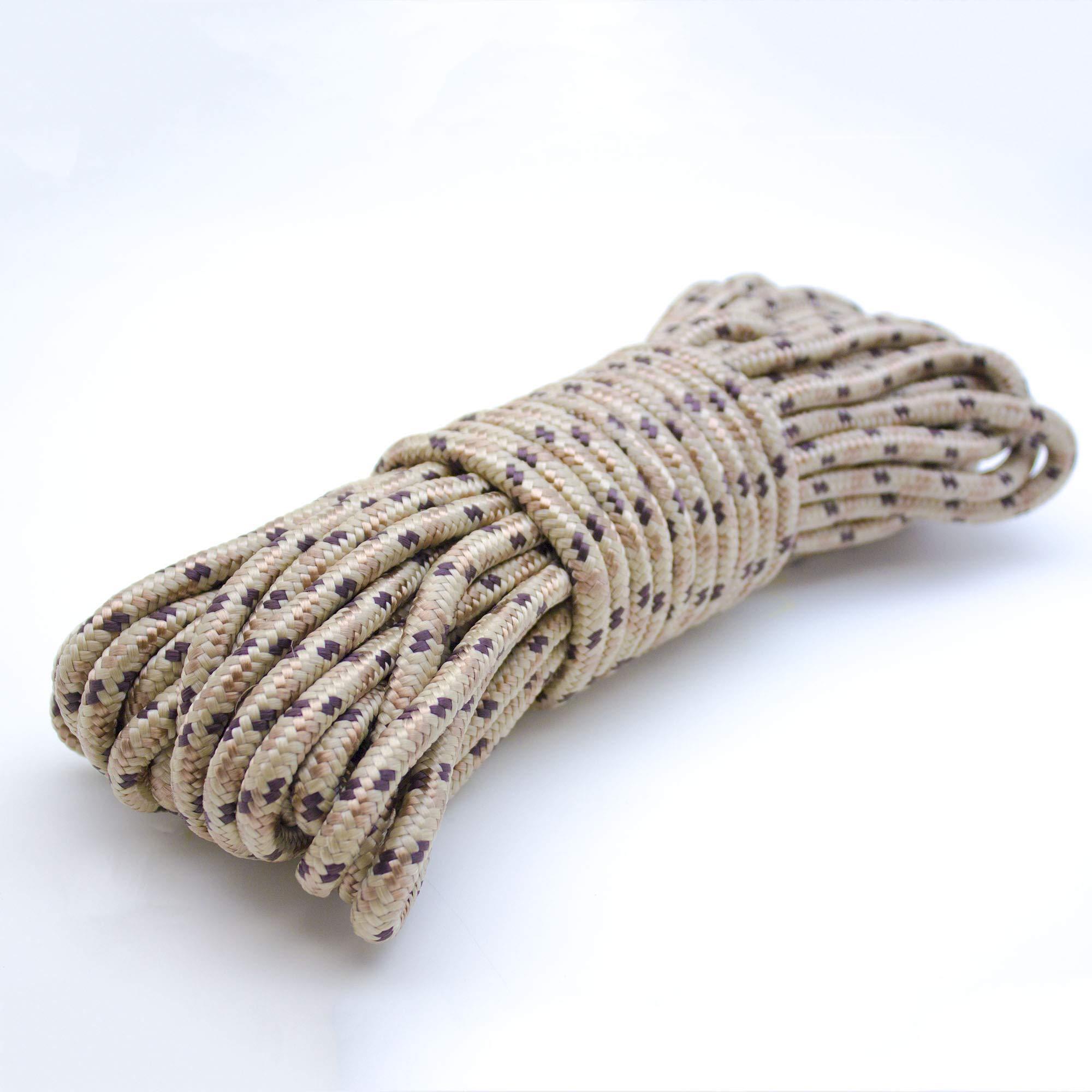 Emergency Zone 9mm (3/8 inch) Nylon Braided, 50 Foot, Multi-Purpose Rope. Camouflage 2 Pack