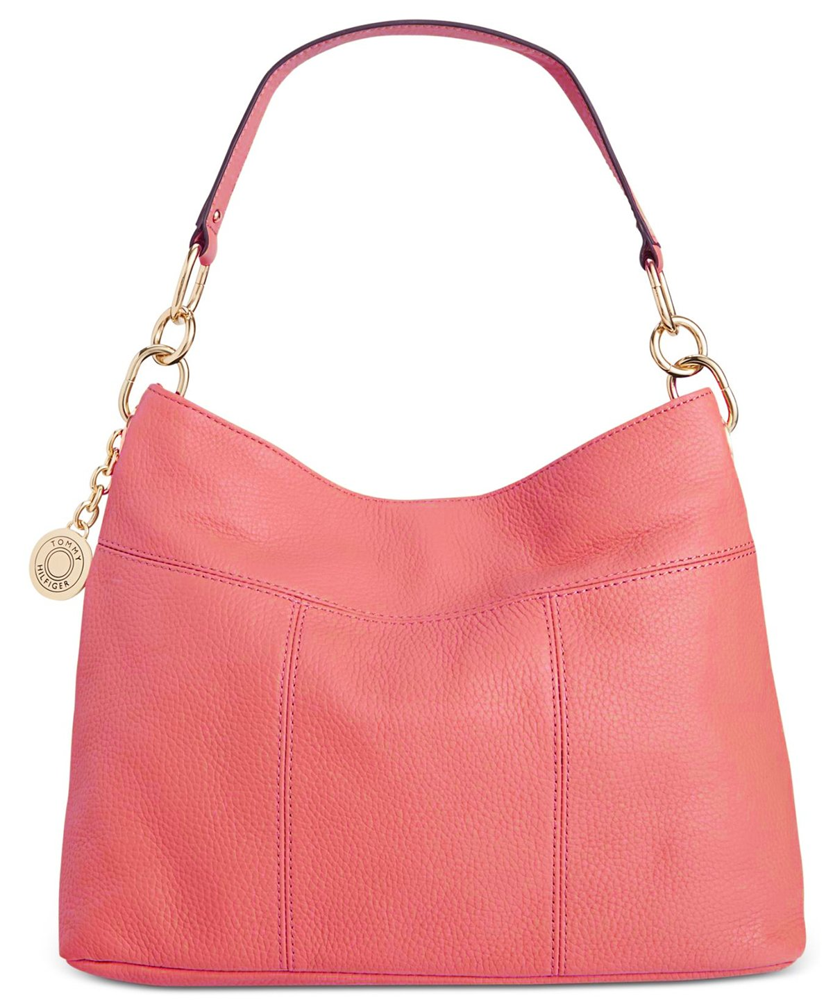 Tommy Hilfiger Th Signature Leather Small Hobo, Dusty Rose