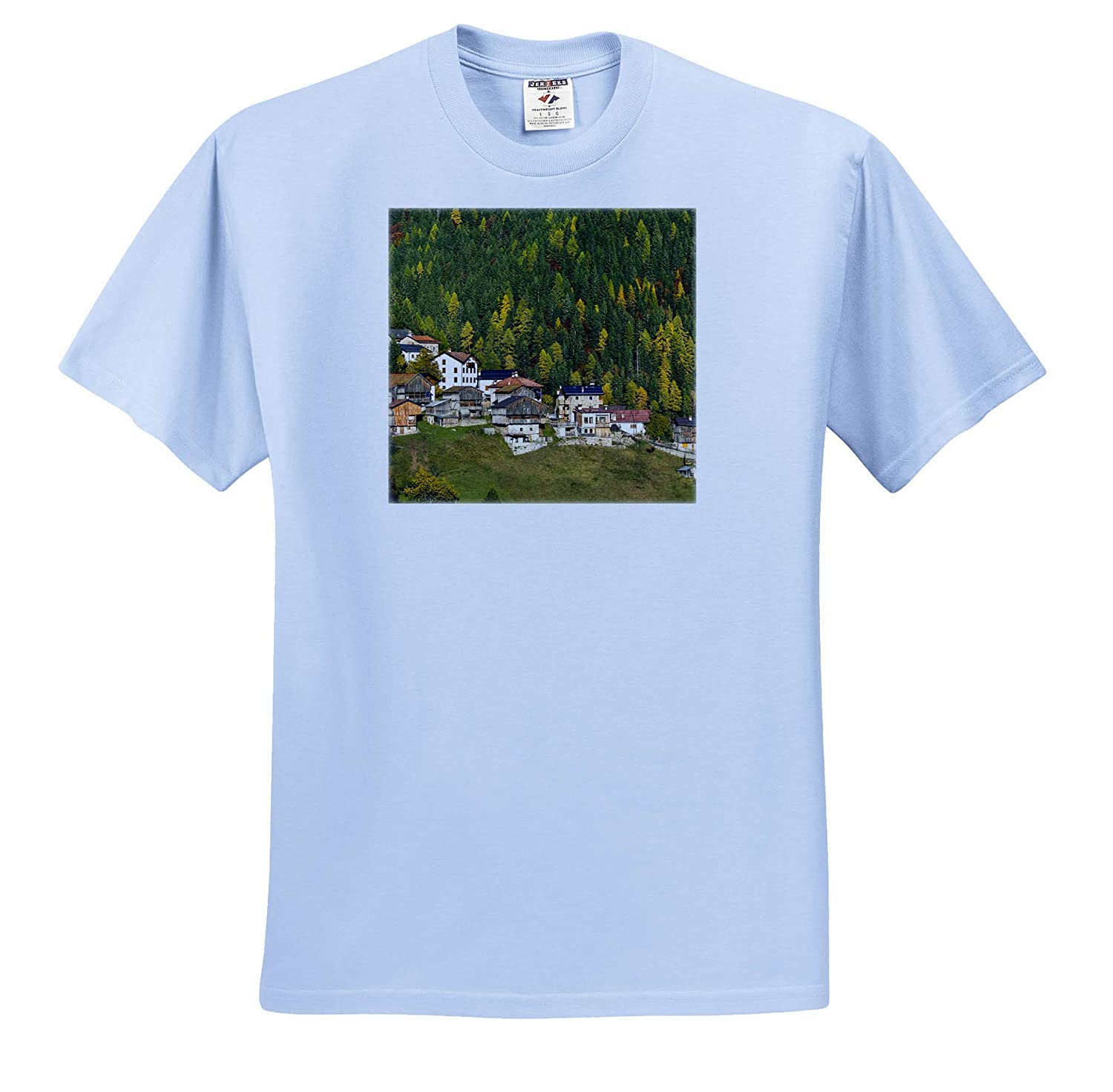 3dRose Danita Delimont Italy ts/_313727 San Tomaso Agordino in The Dolomites of The Veneto Adult T-Shirt XL Italy
