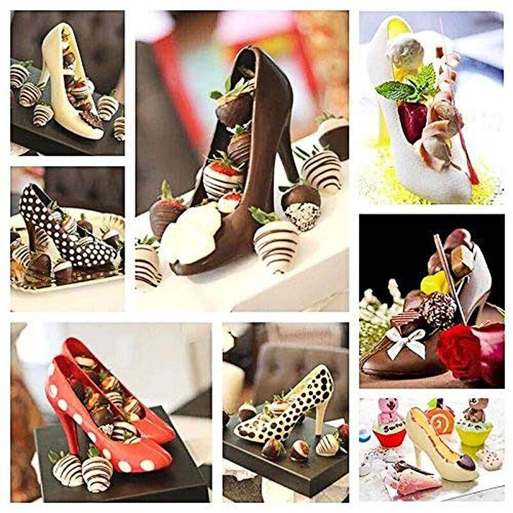 High Heel Shoe Mold, 3D Magnetic Platform Heels Polycarbonate Chocolate Mold Fondant Cake Decorating Mold DIY Home Baking Tools, 6.75 Inches Long by KELNA (Image #7)