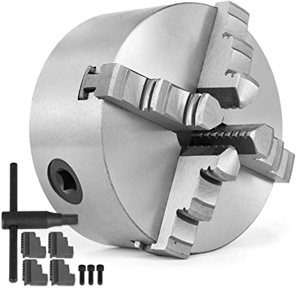 Mandrino autocentrante per tornio 4+4 griffe Ø 80mm