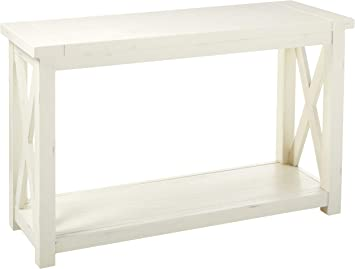 Amazon Com Seaside Lodge White Console Table By Home Styles Furniture Decor
