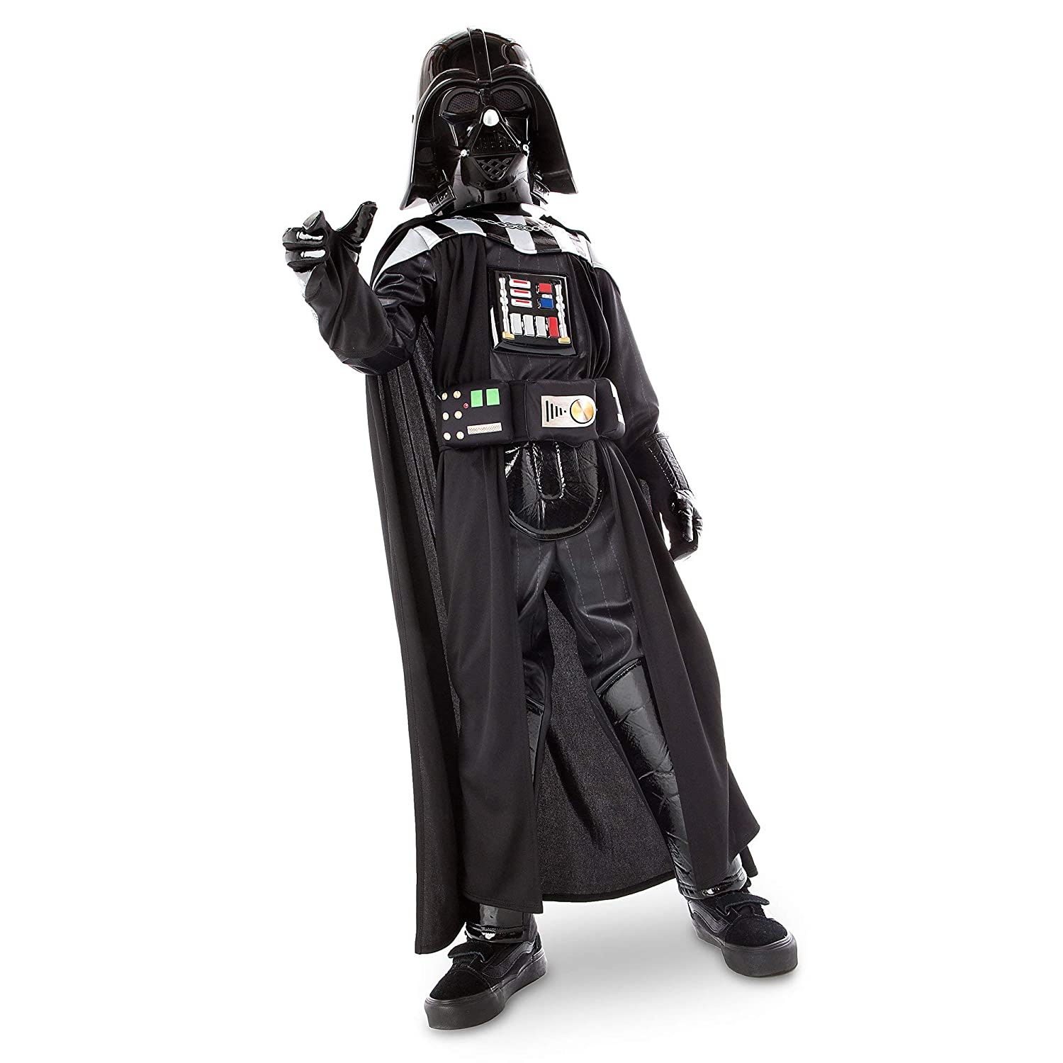 a6f795747 Amazon.com: Star Wars Darth Vader Costume with Sound for Kids Size 7/8 Black:  Clothing