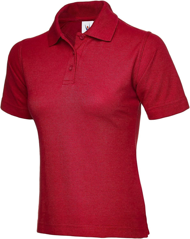t-shirt da sport o lavoro stile casual Polo da donna a maniche corte