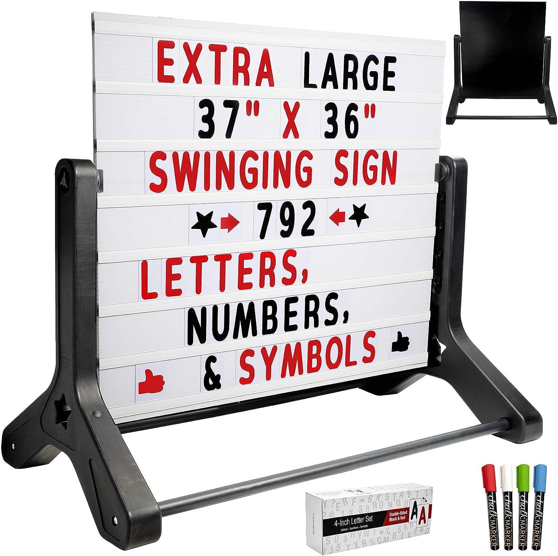 Swinging Changable Message Sidewalk Sign: 37