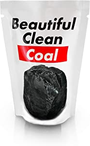 Lump of BEAUTIFUL CLEAN COAL from West Virginia Real Anthracite Nut Coal Hipster Edition