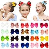 20PCS Baby Big Hair Bows Boutique Girls Alligator Clip Grosgrain Ribbon Cute OQ