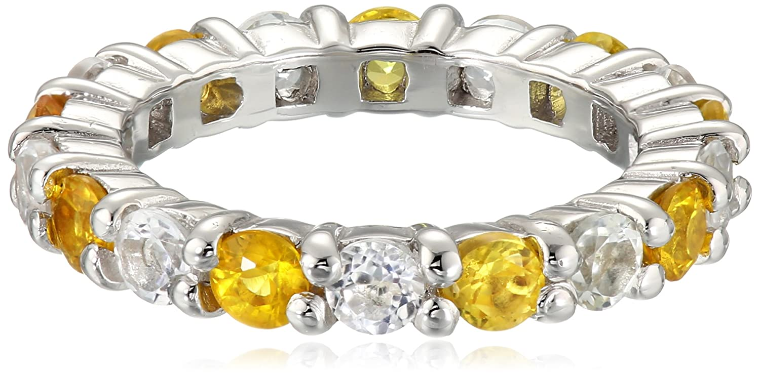 M.C.L by Matthew Campbell Laurenza Large Sapphire Yellow Mix Stackable Ring