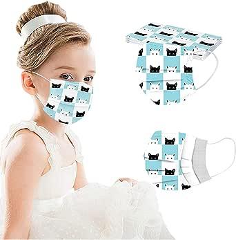 YpingLonk 10/50 Uds niños niños Gato Estampado Lindo Bufanda-Moda Universal elástico Orejeras Suave Chal para niños niñas -21130-14