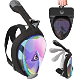Aleoron - Foldable Full Face Snorkel Mask for Adults and Youth (Women & Men) - Anti Fog Full Face Snorkeling Mask with…