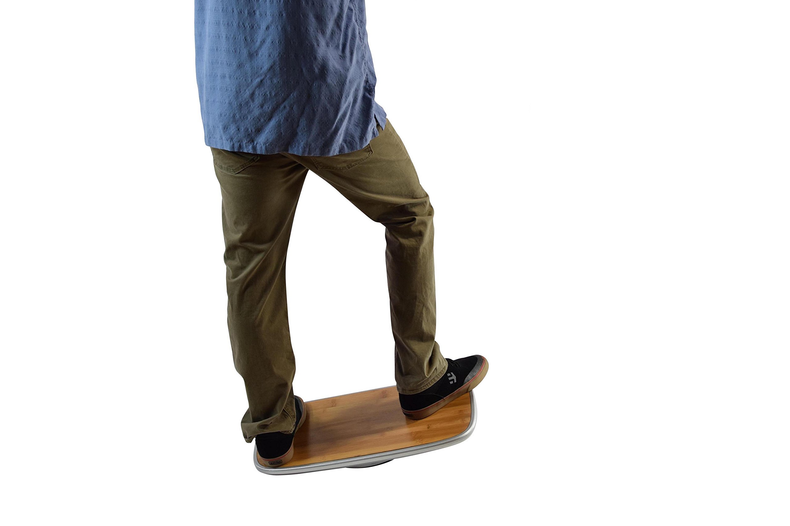 BASE Balance & Stability Board. Active Standing Desk Wobble Platform Trainer for Home, Office, Rehab, Fitness. Full Range of Motion. Patented by Uncaged Ergonomics (Image #10)