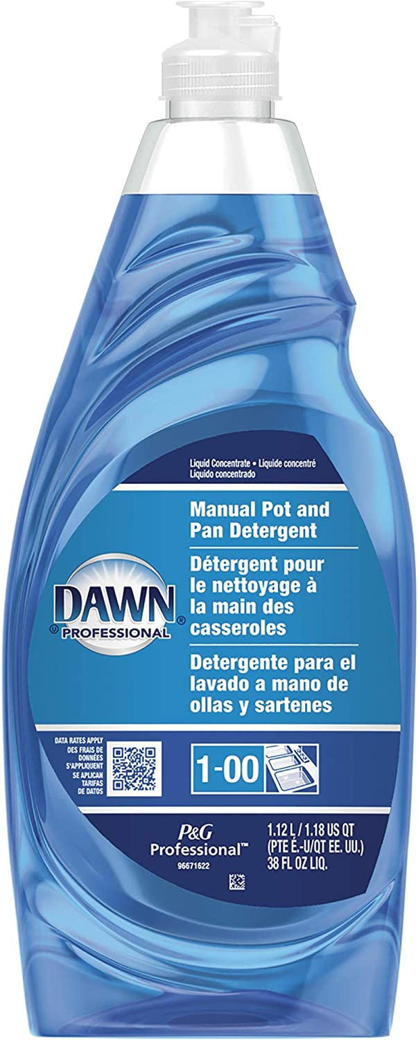 P and G Dawn Ultra Professional Pot and Pan Manual Detergent, Original Scent - One 38-Oz. Bottle, Model Number 45112