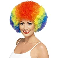 Fancy Dress Rainbow Multi Coloured Clown Clowns Wig Adult Size