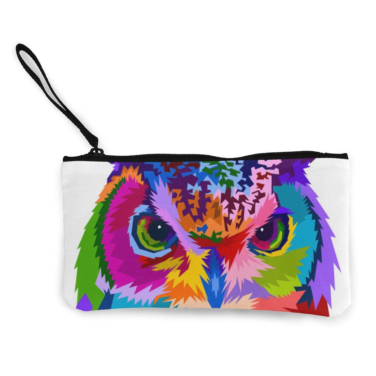 3fd2772a06 Colorful Owl Cute Canvas Change Cash Coin Purse