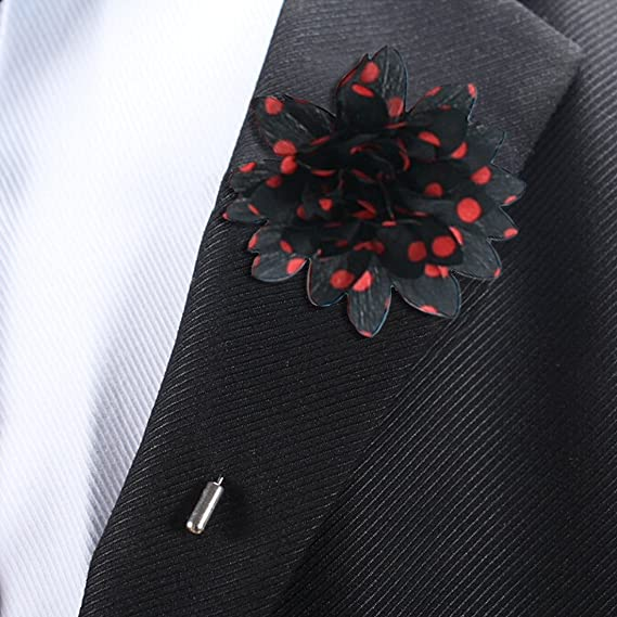 Amazon.com: kilofly para hombre flor Pin de solapa traje de ...