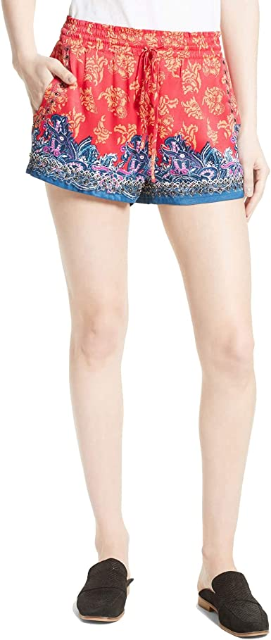 great prices new style shopping Free People Women's San Paulo Embellished Shorts Red XS at Amazon ...