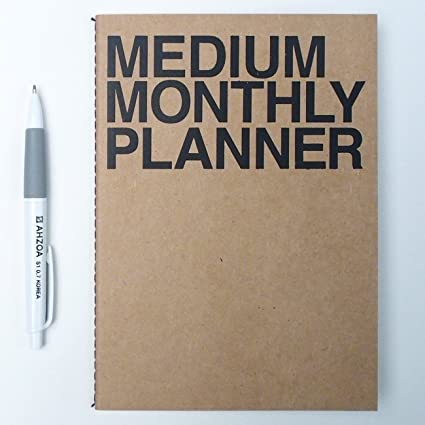 amazon com simple monthly undated planner with ahzoa pencil date