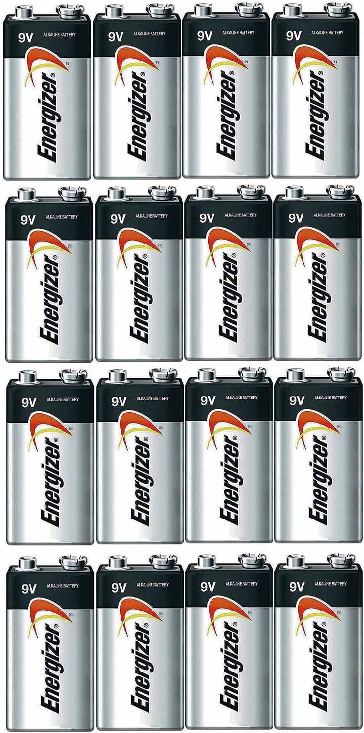 Energizer E522 Max 9V Alkaline battery Exp. 12/22 or later - 16 Count