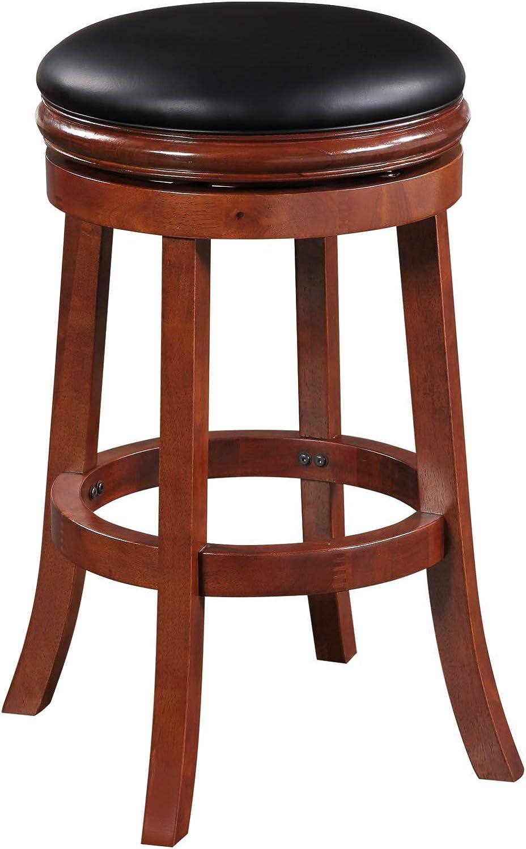 Amazon Com Boraam Backless Bar Height Stool 29 Inch Cherry Furniture Decor