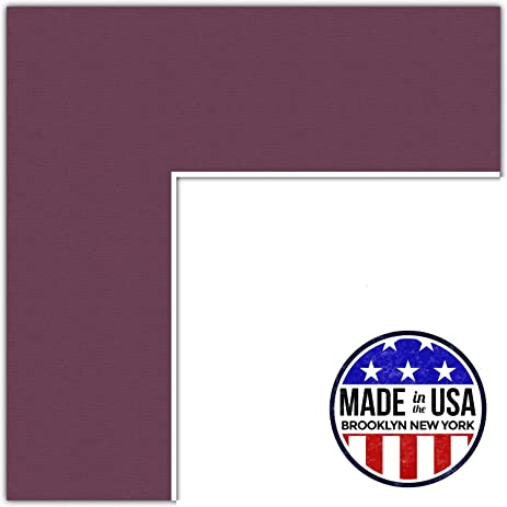 Amazon.com: 9x18 Raspberry / Ruby Custom Mat for Picture Frame with ...