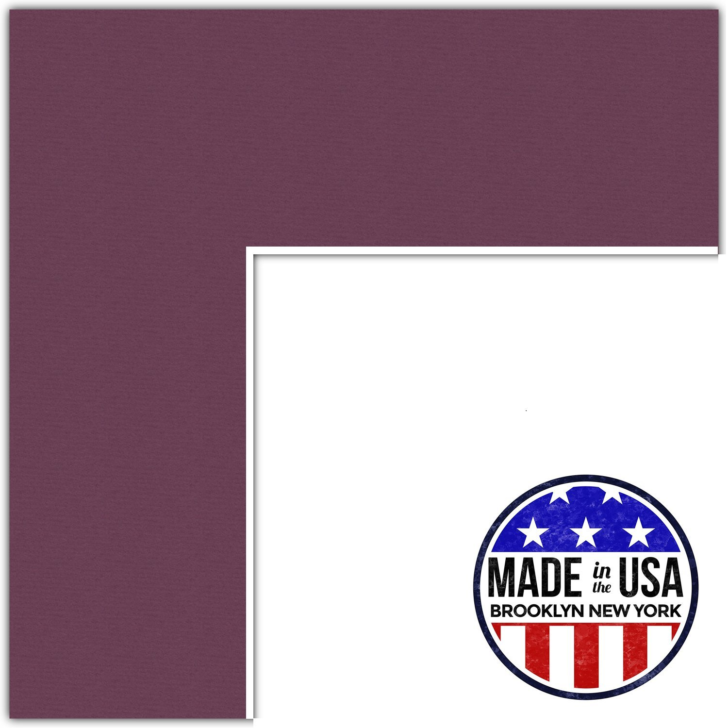 10x33 Raspberry/Ruby Custom Mat for Picture Frame with 6x29 opening size (Mat Only, Frame NOT Included)