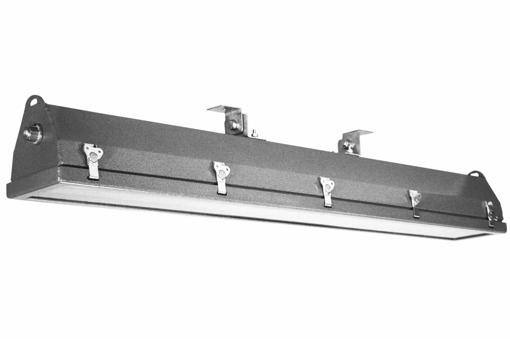 Class 1 Div 2 LED Pivoting Light - 4 Foot 2 Lamp - Borosilicate Glass Lens - Offshore LED Rig Light(-120V-277V AC-4500K-3/4) by Larson Electronics