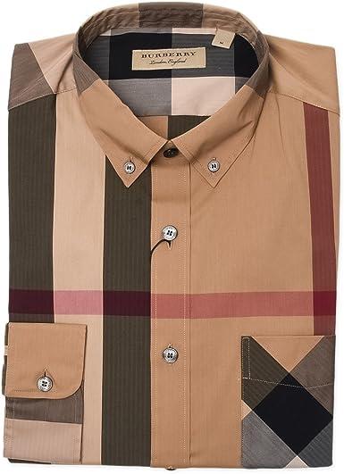 Burberry Hombre 4045831 Multicolor Algodon Camisa: Amazon.es: Ropa y accesorios