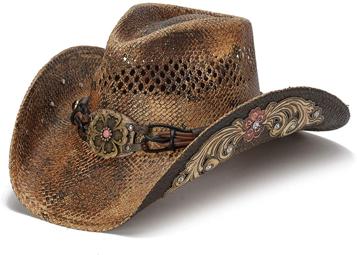 Stampede Hats Women's Glory Rider Flowers and Rhinestone Western Hat at  Amazon Women's Clothing store