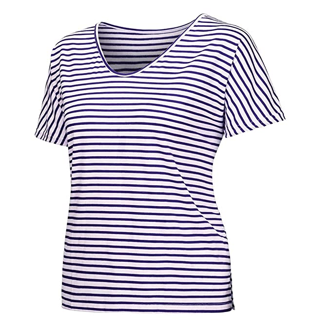 Amazon.com: YKARITIANNA 2019 Womens Tops, Women V Neck Batwing Striped Middle Sleeve Casual T-Shirts Ladies Top Blouse