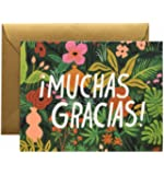 """New """"Muchas Gracias"""" Thank You Note Cards by Rifle Paper Co. -- Set of 8 Cards and Envelopes"""