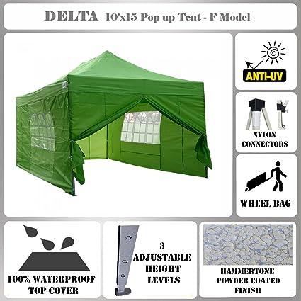 Amazon.com: 10\'x15\' Pop up Canopy Wedding Party Tent Gazebo EZ ...