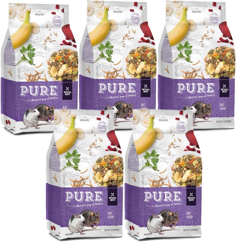 Witte Molen Pure Rat Seed Mixture Peanut & Banana Dry Rat Food (Dumbo Rats, Manx Rats, Dwarf Rats, Rex Rats)
