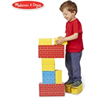 Melissa & Doug Deluxe Jumbo Cardboard Blocks (Developmental Toys, Extra-Thick Cardboard Construction, 24 Pieces, 48.26 cm H x 32.258 cm W x 9.398 cm L)